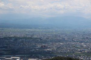 城山から見た高岡市街