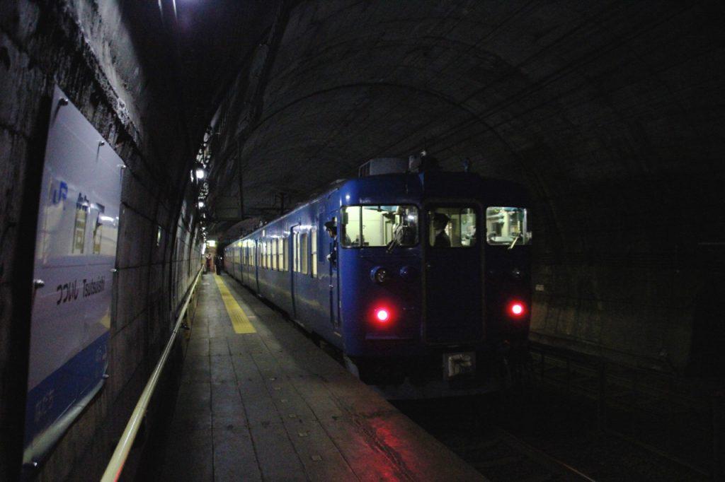 JR北陸本線筒石駅(3月14日にえちごトキめき鉄道に移管)